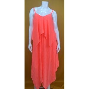 APT 9 Coral Layered Summer Dress Size Large